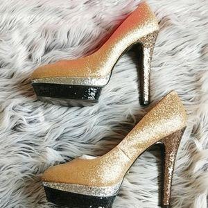 NIB Betsey Johnson Seann Glitter Heels - 9.5
